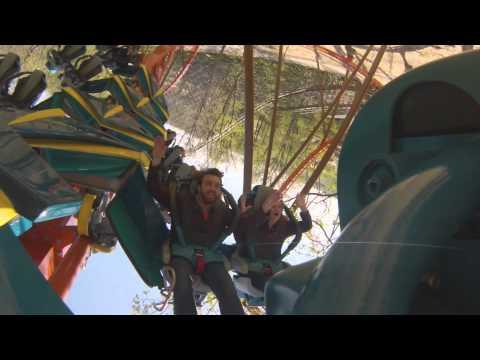 Herald staff rides Holiday World's Thunderbird coaster
