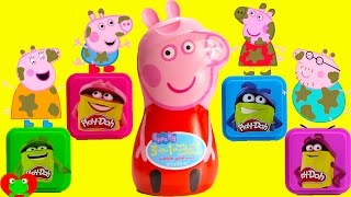 Peppa Pig Muddy Play Doh Bath Time Moldable Soaps and Surprises