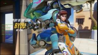 Beautiful Quad-Kill || Play of the Game || D.Va || Overwatch