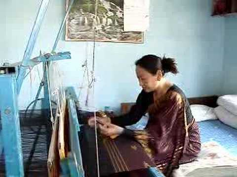 Ethnic Textile Traditional Dhaka Weaving by Limbu Women