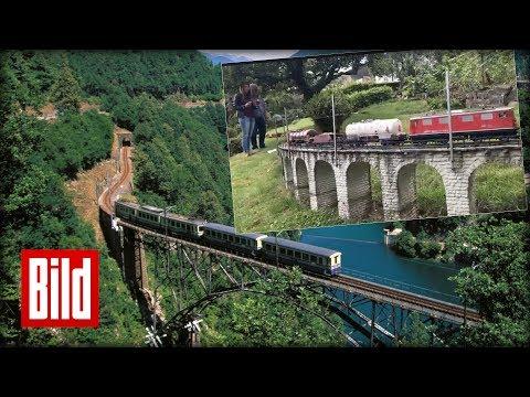 Modelleisenbahn - Schweizer Eisenbahn im Garten