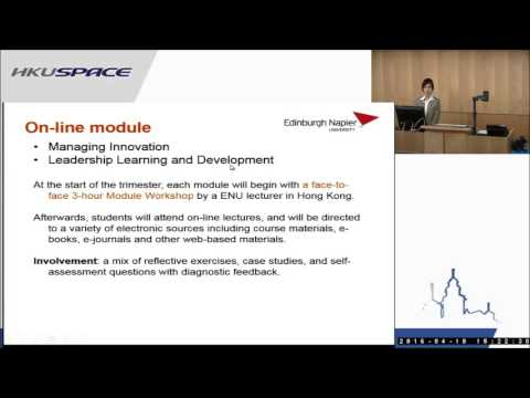 HKU SPACE MSc in Business Management (Leadership and Innovation) Programme Seminar