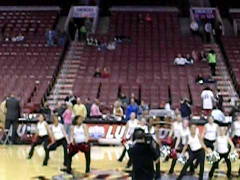 ursuline academy dance team @ 76ers game