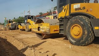 Making Road of Heavy Machinery | SDLG Grader G9190 & SDLG Roller RS8200 & Liugong Roller 6122E