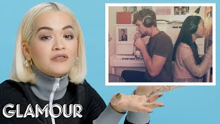 Rita Ora Watches Fan S On Youtube Glamour