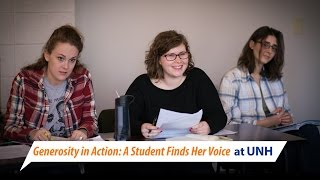 Generosity in Action: A Student Finds Her Voice at UNH