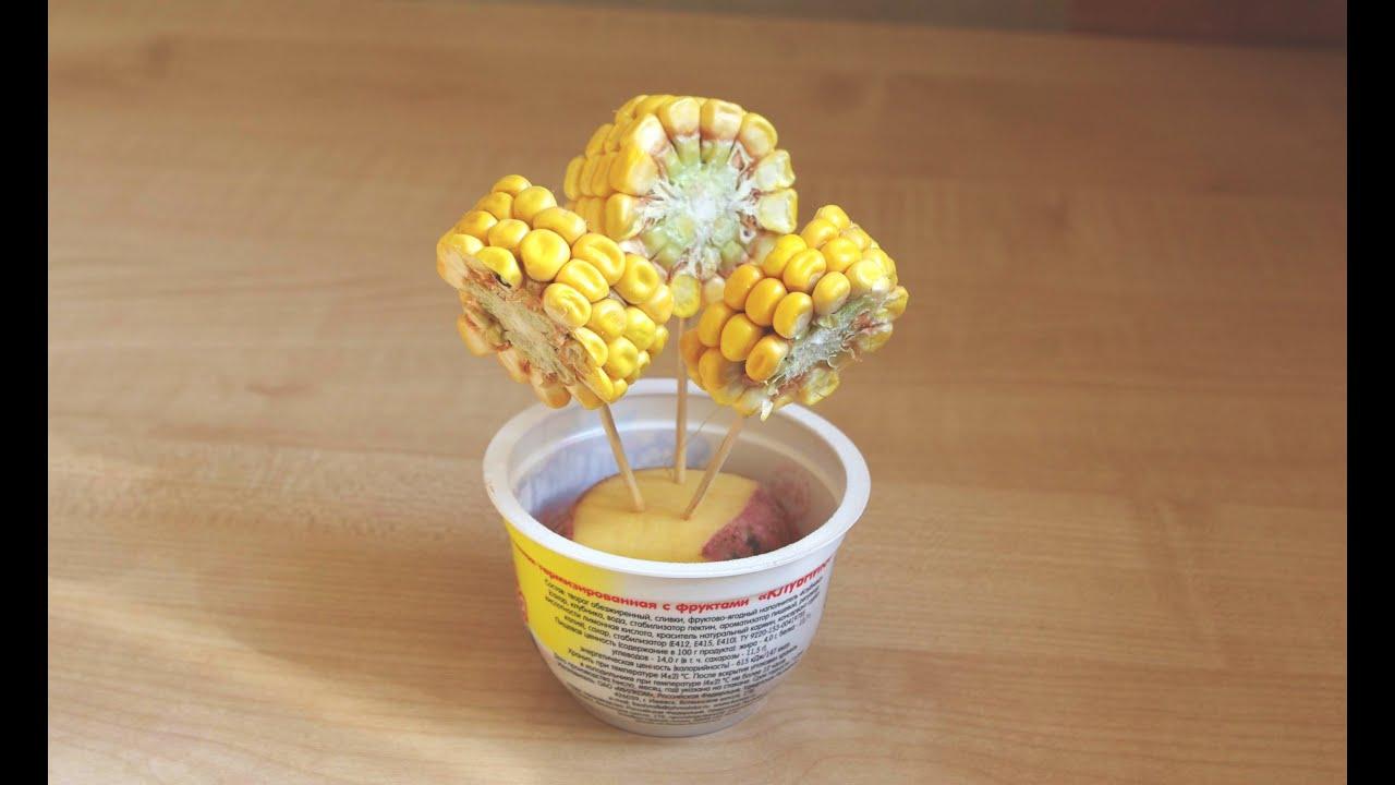 Фото поделки из кукурузы
