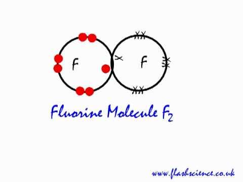 Covalent bonding in a fluorine F2 Covalent Bond