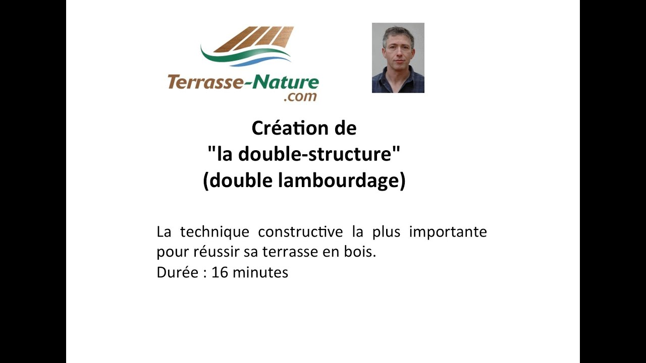 TERRASSE EN BOIS DOUBLE STRUCTURE  YouTube