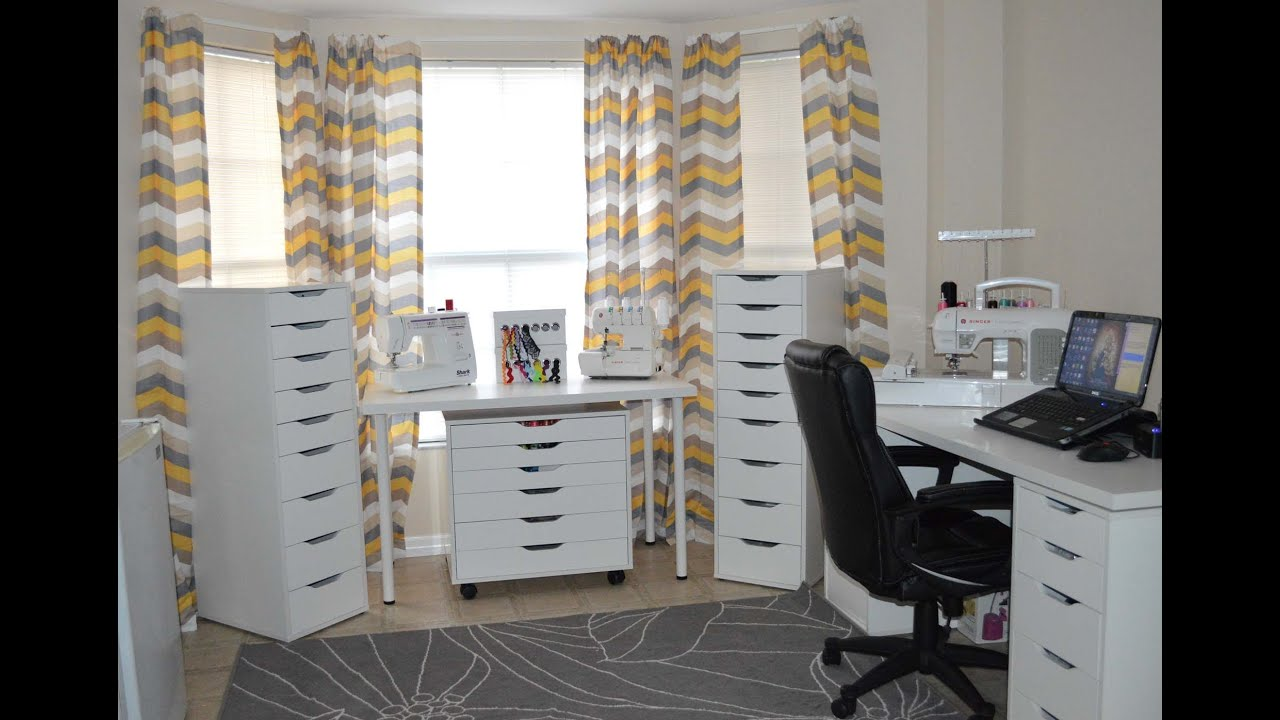 My sewing craft room tour youtube - Craft room furniture ...