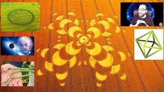 El gran mensaje de los círculos y los ovnis que entraron en el eclipse 3--