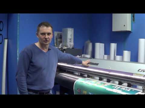 Печать пленок самоклеек на принтере Mimaki