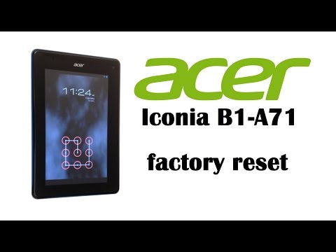 Acer Iconia B1-A71 / B1-710 - Factory Data Reset  (Wipe Data / Factory  Reset) HD