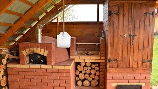 Wędzarni, grill, piec chlebowy - smokehouse-grill-pizza oven