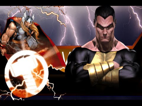 Thor vs Black Adam In An Epic Battle To The DEATH