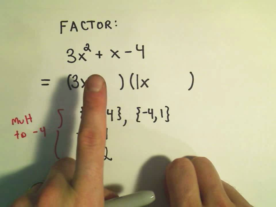 Factoring Trinomials (A quadratic Trinomial) by Trial and Error ...