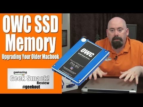 Upgrading the Macbook Pro with a OWC SSD, 16 GB Memory