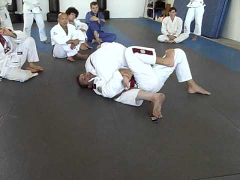 Pedro Sauer Sweep from Knee on Belly