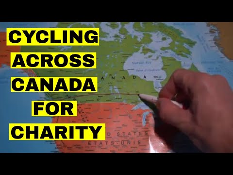 Long distance cycling for charity   Cycling across Canada