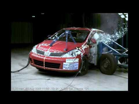Nissan Versa Hatchback 2010. 2007 Nissan Versa Hatchback NHTSA SIde Impact w/SAB