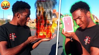 BURNING ALL My Cousin's iPhones & Buying HIM an iPhone 11! FIGHT!?