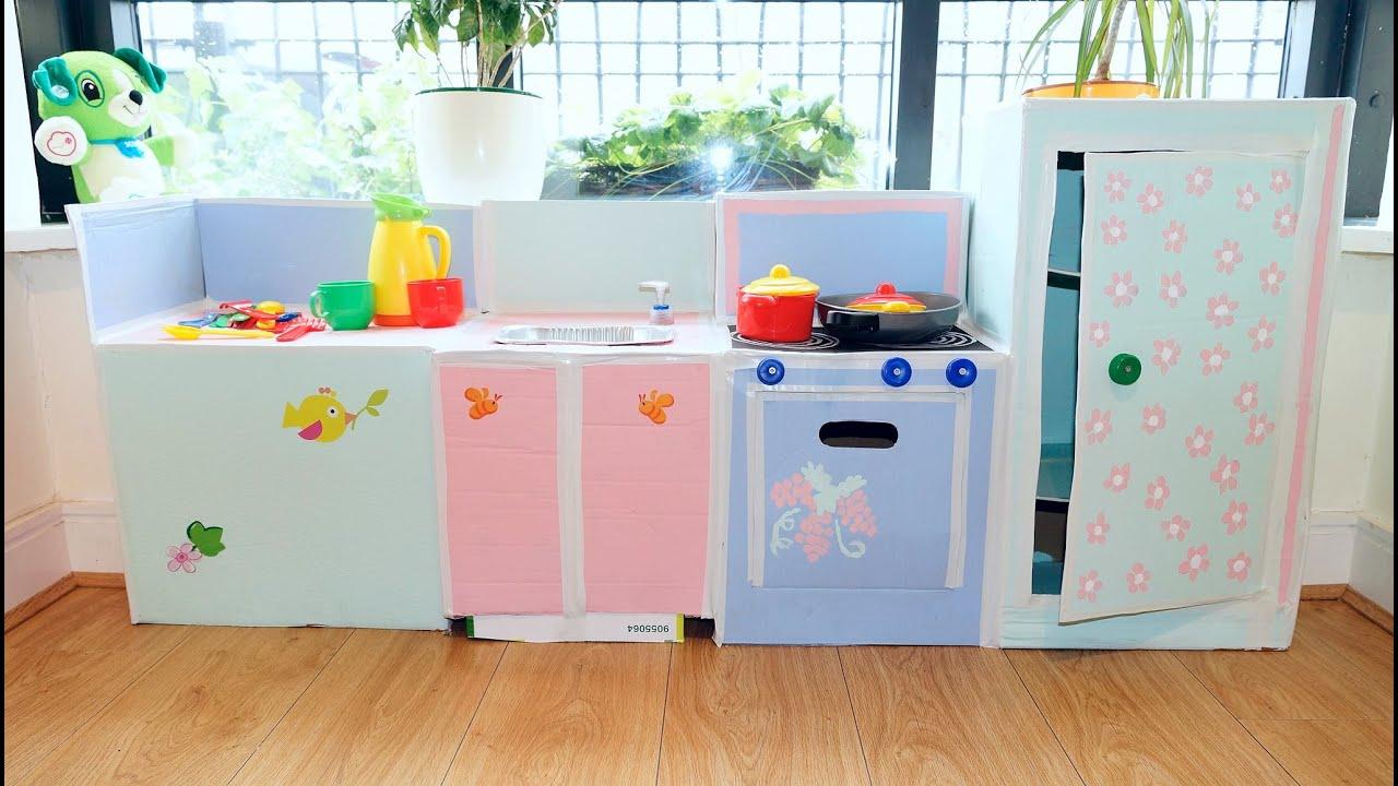 Детские кухни для девочек из картона своими руками 99