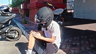 My First 20 Minutes on a Motorcycle... (CRASHED INTO A CAR)