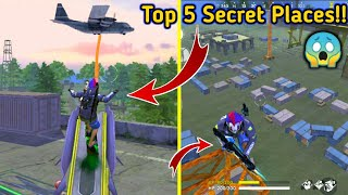 Top 5 Hiding Places By LaunchPad🔥😱//Sky View Top Secrets.