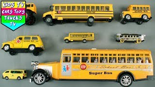 Learning School Buses For Kids Children Babies Toddlers | School Bus Song | Buses For Kids | Kids TV