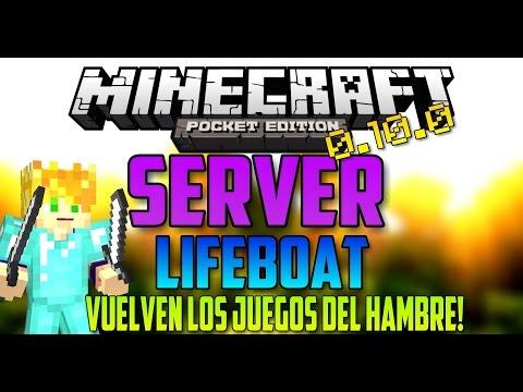 VUELVEN LOS JUEGOS DEL HAMBRE? - SERVER ESTABLE - MINECRAFT PE 0.10.0