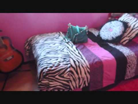 Room Tour 2013  {Hot Pink & Zebra Print}