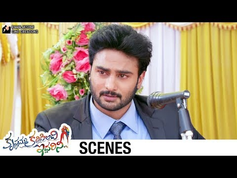 Sudheer Babu Emotional Speech | Krishnamma Kalipindi Iddarini Movie Scenes | Nanditha Raj
