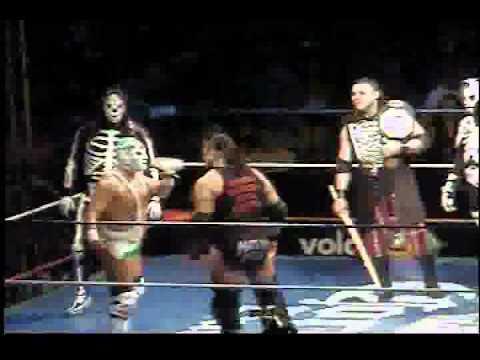 luchadores AAA en gdl 06-03-11 el zorro,cylver,parka y ciber,l.a park,wagner 14º