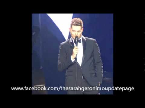 Michael Buble mentioning Sarah Geronimo in his World Tour Concert in Manila, Philippines