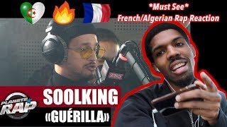 AFRICAN AMERICAN REACTION TO ALGERIAN/FRENCH RAP! Soolking - Guerilla!