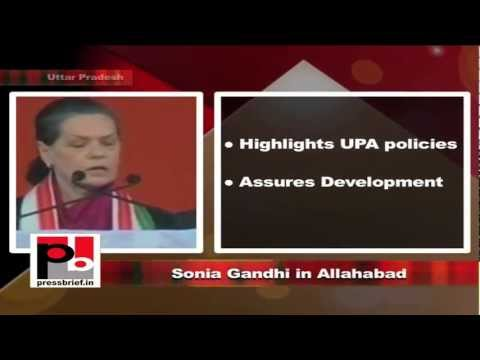 Sonia Gandhi in Allahabad, Uttar Pradesh, 8th February 2012, Part-8