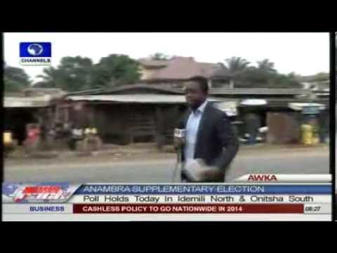 Channels Television's correspondent, Seun Okinbaloye, who is covering the supplementary election in Idemili North reported reported that there is heavy prese...