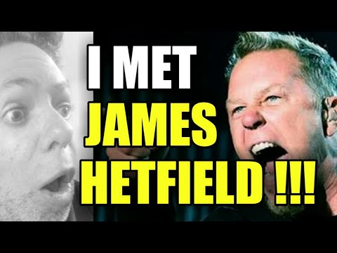 James Hetfield of Metallica receives present for his birthday at meet and greet in Mexico City 2012