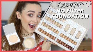 NEW COLOURPOP FOUNDATION | Review + Wear Test