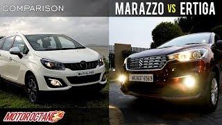Mahindra Marazzo vs Maruti Ertiga Comparison | Hindi | MotorOctane