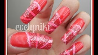UÑAS DECORADAS BRILLANTES / NAIL ART