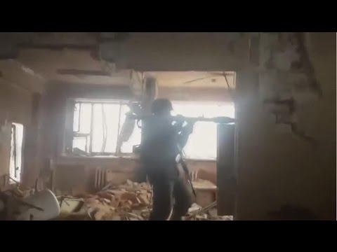 12.01.2015 Donetsk Airport. Rebels unit