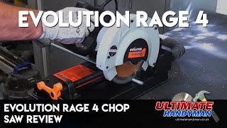 Evolution Rage 4 chop saw demonstration