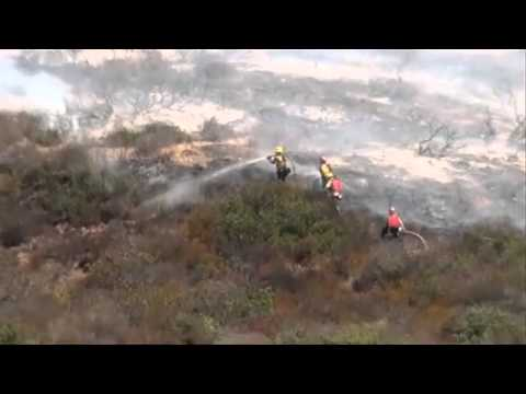 Firefighters quickly knock down Laguna Beach brush fire - 2012-09-16