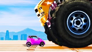 INDESTRUCTIBLE CAR vs. MINI CAR! (GTA 5 Funny Moments)