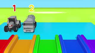 YouTube  Colors for Children to Learn with Toy Super Cars with Coloring Station and Parking for Kids