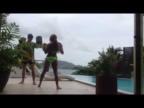 Bikini Thai Boxing video