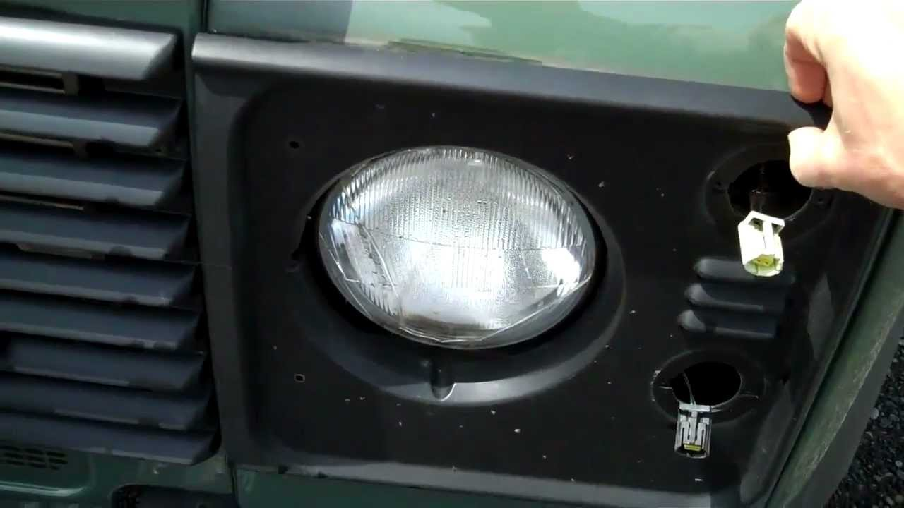Crystal Halogen Headlight Upgrade In Land Rover Defender