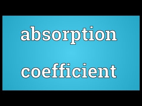 Header of absorption coefficient