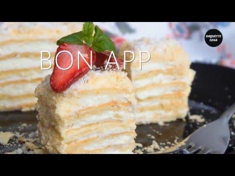 Торт Наполеон с заварным кремом за 30 минут!